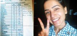 '887/1000' - Samantha's Tenth Class Marks