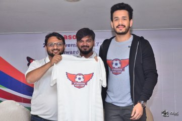 Akhil-At-Hyderabad-Football-League-Press-Meet