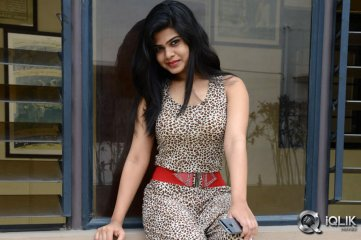 Alekhya at Aa Aiduguru Movie Trailer Launch