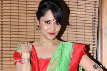 Anasuya at Cinema Chupistha Mava Audio Launch
