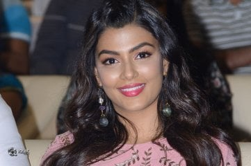Anisha Ambrose At Okkadu Migiladu Movie Pre Release Function