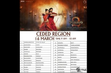 Baahubali 2 Movie Trailer Screening on 16th March Theatres List