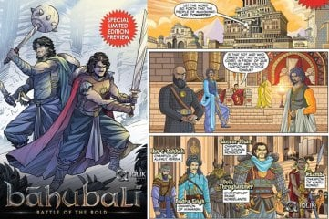 Baahubali Comic Book Cover and Preview
