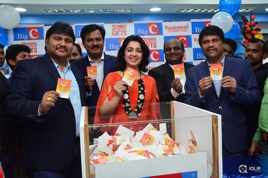 Charmme-At-Big-C-Dasarawali-Lucky-Draw-At-Vijayawada