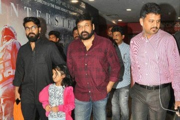 Chiranjeevi And Ram Charan Watched Special Screening of Baahubali 2 at Prasads IMAX