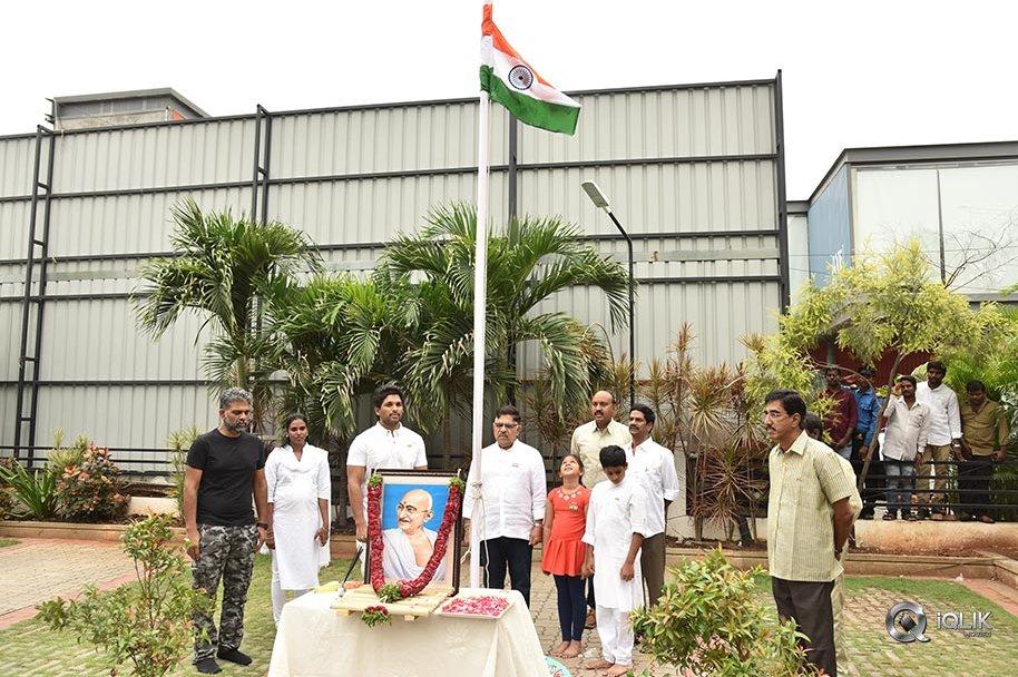 Geetha-Arts-Office-Flag-Hoisting-Pics