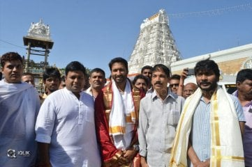 Goutham Nanda Movie Team At Tirumala Sreevari Darshanam