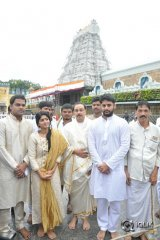 Lie Movie Team At Tirumala