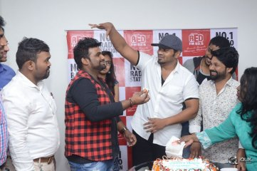 Manchu Manoj at Redfm For Okkadu Migiladu Movie Promotions