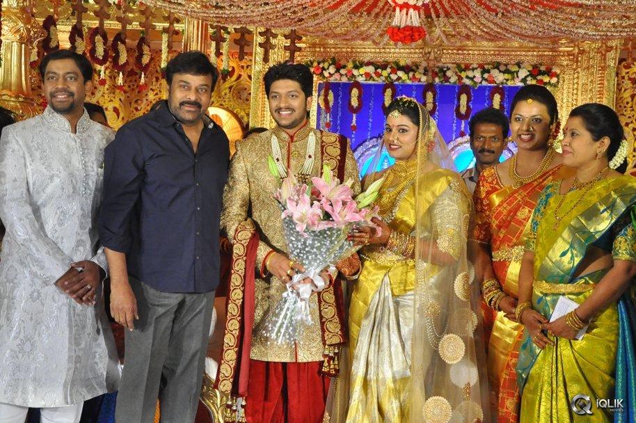 Celebs At Music Director Koti Son Rajeevs Wedding Reception