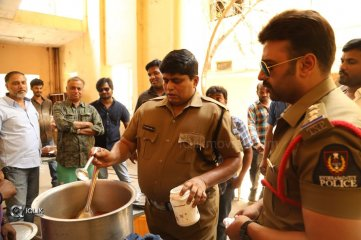 Naara Rohith Cooks Fish Curry on The Sets of Shamanthakamani Movie