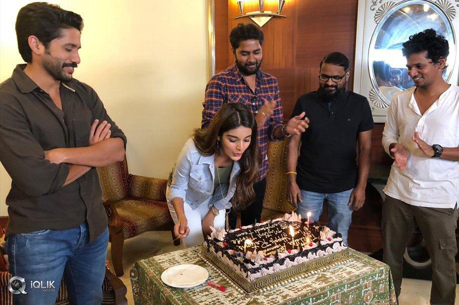 Nidhhi Agerwal Celebrating her Birthday in Savyasachi Sets