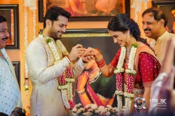 Nithiin and Shalini Engagement Photos