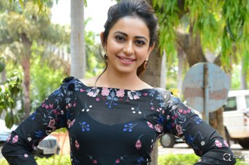 Rakul Preet Singh at Sarrainodu Movie Release Press Meet