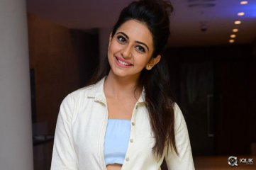 Rakul Preet Singh at Sarrainodu Movie Success Meet