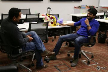 Ram Charan Promotes Khaidi No 150 Movie at Facebook Office