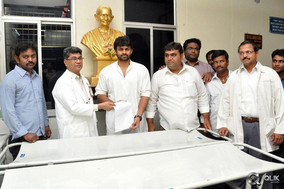 Sai-Dharam-Tej-and-Pawan-Kalyan-Fans-Donated-Stretchers-To-Gandhi-Hospital