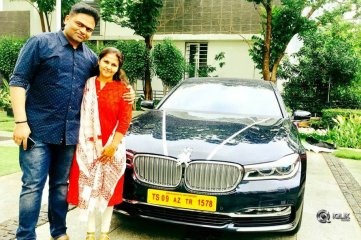 Vamshi-Paidipally-With-His-New-BMW-Car